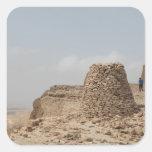 Lugar de enterramiento antiguo de Omán Calcomania Cuadrada Personalizada