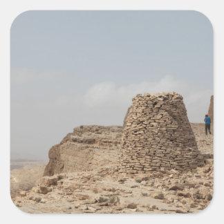 Lugar de enterramiento antiguo de Omán Pegatina Cuadrada
