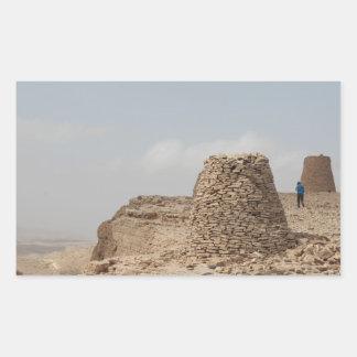 Lugar de enterramiento antiguo de Omán Pegatina Rectangular