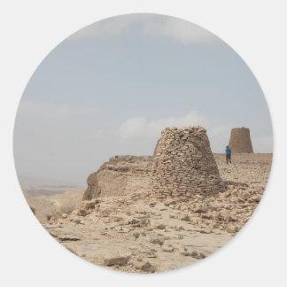 Lugar de enterramiento antiguo de Omán Pegatina Redonda