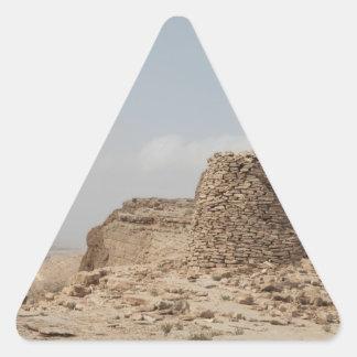 Lugar de enterramiento antiguo de Omán Pegatina Triangular