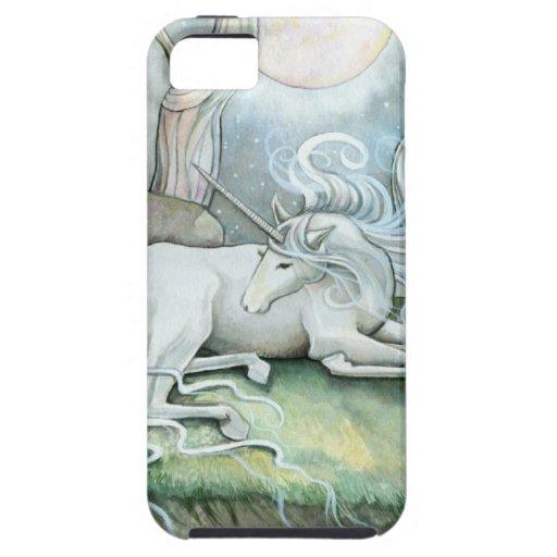 Lugar de la fantasía del unicornio del arte de la funda para iPhone SE/5/5s
