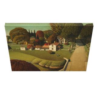 Lugar de nacimiento de Herbert Hoover - Grant Wood Impresiones En Lienzo Estiradas