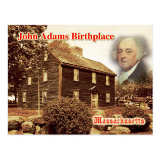 Lugar de nacimiento de John Adams, Massachusetts Postal
