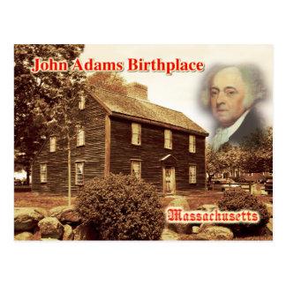 Lugar de nacimiento de John Adams Massachusetts