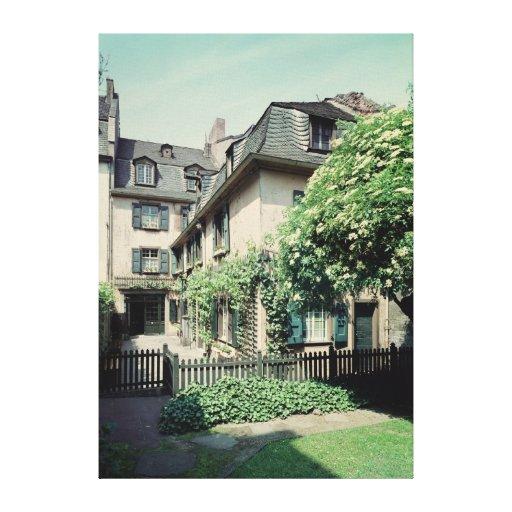 Lugar de nacimiento de Ludwig van Beethoven Lona Envuelta Para Galerias