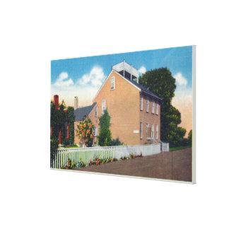 Lugar de nacimiento de Maria Mitchell Impresión En Tela