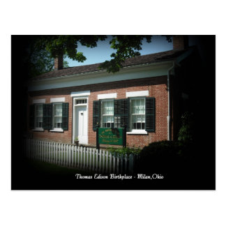 Lugar de nacimiento de Thomas Edison postal de Mil