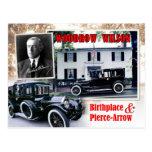 Lugar de nacimiento de Woodrow Wilson y limusina Postal