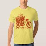 Lugar de nacimiento del genio (rojo del vintage) camisas