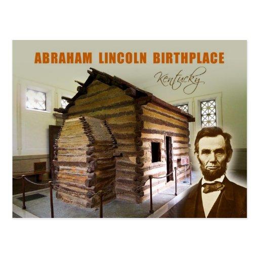 Lugar de nacimiento NHP, Kentucky de Abraham Linco Tarjeta Postal