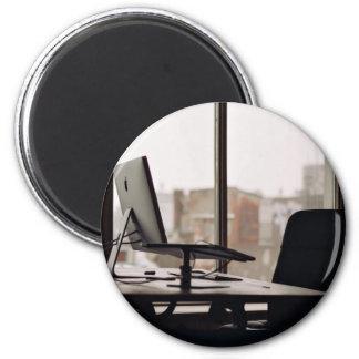 Lugar de trabajo ordenado imán redondo 5 cm