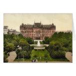 Lugar de Victoria, Stettin, obra clásica Photochro Tarjetón