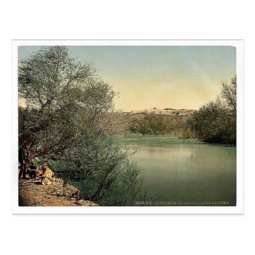 Lugar del bautismo, río Jordania, Tierra Santa rar Tarjetas Postales