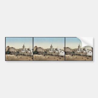 Lugar del gobierno, vintage Photoch de Argel, Arge Pegatina De Parachoque