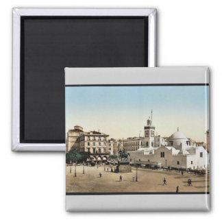 Lugar del gobierno, vintage Photoch de Argel, Arge Imán De Nevera