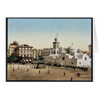 Lugar del gobierno, vintage Photoch de Argel, Arge Tarjeta