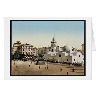 Lugar del gobierno, vintage Photoch de Argel, Arge Tarjetas