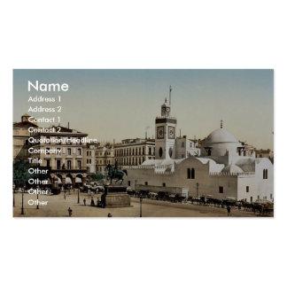 Lugar del gobierno, vintage Photoch de Argel, Arge Plantilla De Tarjeta De Visita