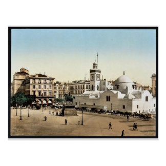 Lugar del gobierno, vintage Photoch de Argel, Arge Postales