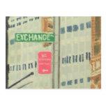 Lugar del intercambio tarjetas postales