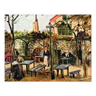 """Lugar del jardín en Montmartre (La Guinguette), Invitación 4.25"""" X 5.5"""""""