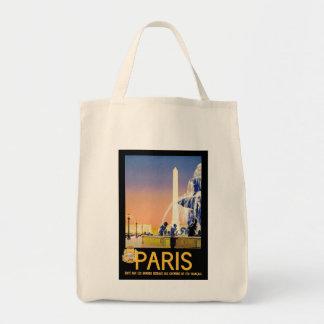 Lugar del la Concorde del ~ de París Bolsa Tela Para La Compra