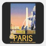 Lugar del la Concorde del ~ de París Pegatina Cuadradas