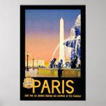 Lugar del la Concorde del ~ de París Poster