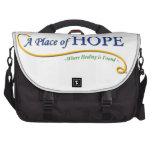 Lugar del logotipo de la esperanza bolsas de ordenador