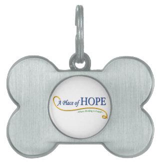 Lugar del logotipo de la esperanza placa mascota