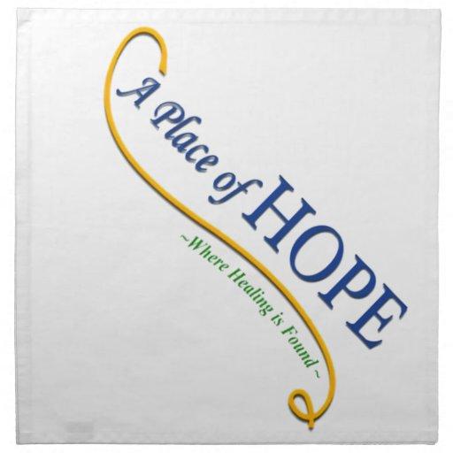 Lugar del logotipo de la esperanza servilleta imprimida