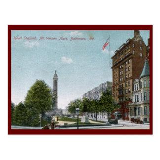 Lugar del Monte Vernon, vintage 1910 de Baltimore Postal