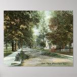 Lugar del parque, Bloomfield, vintage 1906 de New  Impresiones