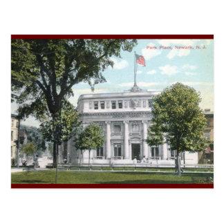 Lugar del parque, vintage 1912 de Newark Tarjeta Postal