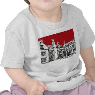Lugar del rojo de Pasillo del laurel Camiseta