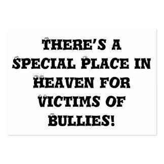 Lugar especial en el cielo para las víctimas de tarjetas de visita grandes