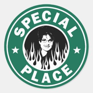 Lugar especial en infierno etiquetas redondas