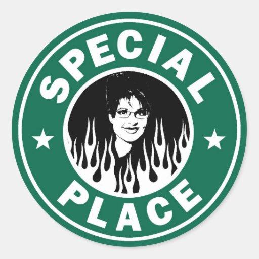 Lugar especial en infierno pegatinas redondas