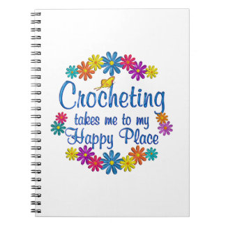 Lugar feliz Crocheting Spiral Notebooks