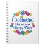 Lugar feliz Crocheting Cuadernos