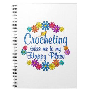 Lugar feliz Crocheting Spiral Notebooks