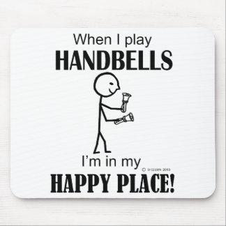 Lugar feliz de los Handbells Alfombrillas De Raton