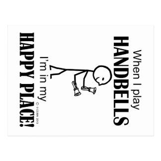Lugar feliz de los Handbells Postales