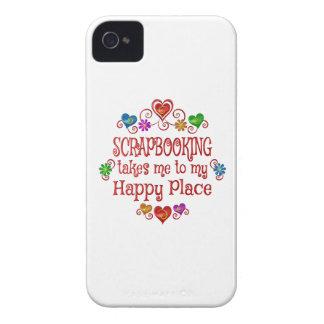 Lugar feliz de Scrapbooking Case-Mate iPhone 4 Cobertura