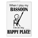 Lugar feliz del Bassoon Felicitacion