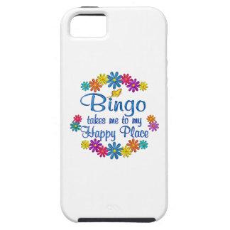 Lugar feliz del bingo iPhone 5 fundas