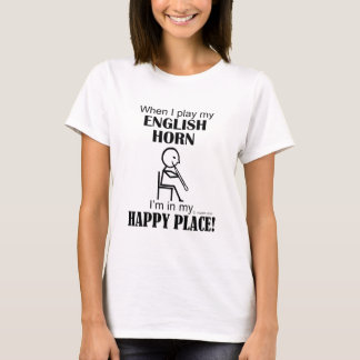 Lugar feliz del cuerno inglés playera