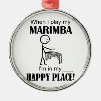 Lugar feliz del Marimba Adorno
