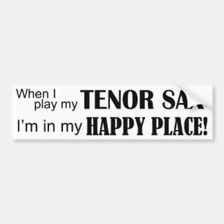 Lugar feliz del saxo tenor pegatina para auto